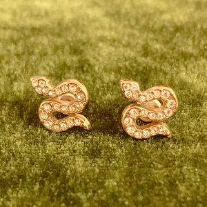 Stella & Dot Rose Gold Serpent Stud Earrings